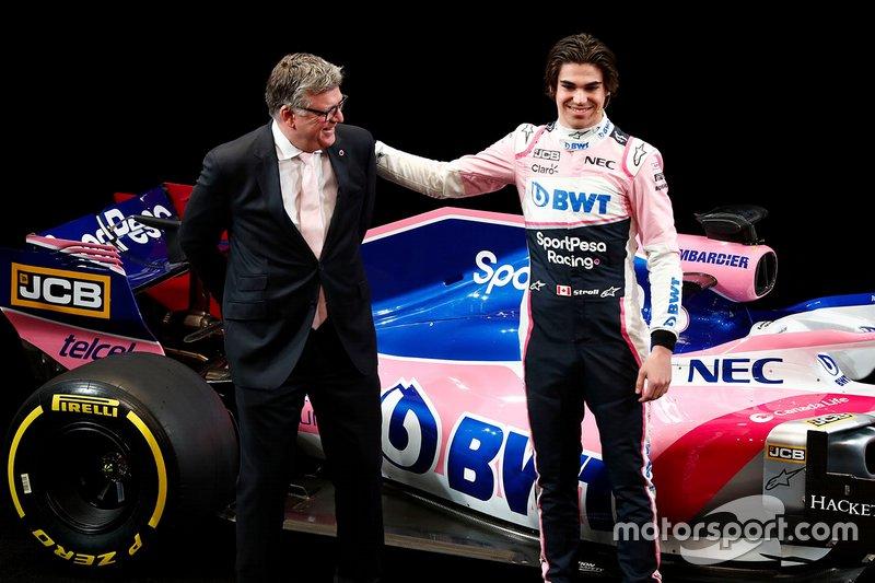 Otmar Szafnauer, Team Principal Racing Point F1 e Lance Stroll, Racing Point F1 Team
