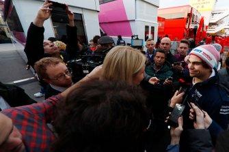 Lance Stroll, SportPesa Racing Point F1 Team, parle à la presse