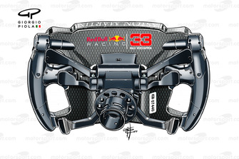 Red Bull Racing RB15, steering wheel Max Verstappen