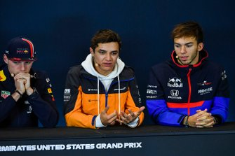 Press conference, Max Verstappen, Red Bull Racing, Lando Norris, McLaren and Pierre Gasly, Toro Rosso
