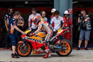 Scooter style brake lever installed in Marc Marquez, Repsol Honda bike
