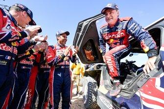 #300 Toyota Gazoo Racing: Nasser Al-Attiyah, #302 JCW X-Raid Team: Stephane Peterhansel, #305 JCW X-Raid Team: Carlos Sainz