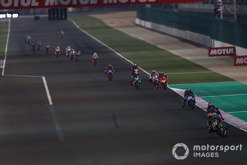 Renn-Action in Losail: Jonathan Rea, Kawasaki Racing Team, führt