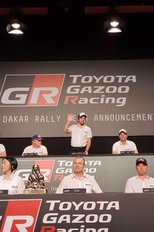 Atmosfera alla presentazione Dakar Toyota Gazoo Racing