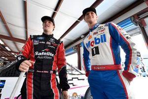 Harrison Burton, Kyle Busch Motorsports, Toyota Tundra Safelite AutoGlass and Todd Gilliland, Kyle Busch Motorsports, Toyota Tundra Mobil 1