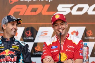Race winner Jamie Whincup, Triple Eight Race Engineering Holden second place Scott McLaughlin, DJR Team Penske Ford