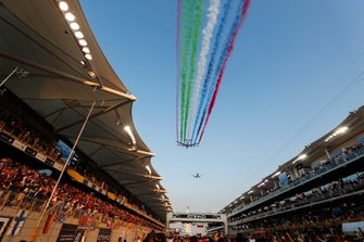 A pre-race aerial display