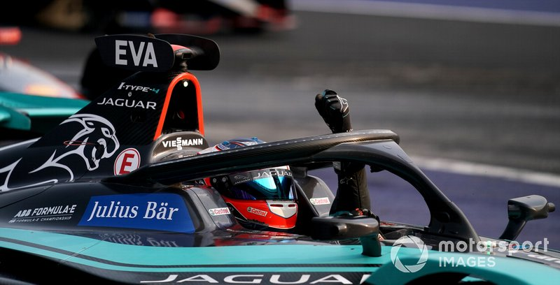 Mitch Evans, Jaguar Racing, Jaguar I-Type 4 celebra la victoria