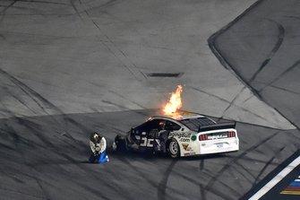 Crash van Corey LaJoie, Go FAS Racing, Ford Mustang RagingBull.com