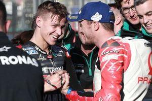 Polesitter Fabio Quartararo, Petronas Yamaha SRT, third place Jack Miller, Pramac Racing