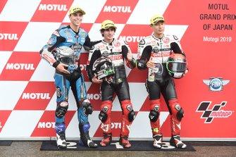 Polesitter Niccolo Antonelli, SIC58 Squadra Corse, second place Alonso Lopez, Estrella Galicia 0,0, third place Tatsuki Suzuki, SIC58 Squadra Corse