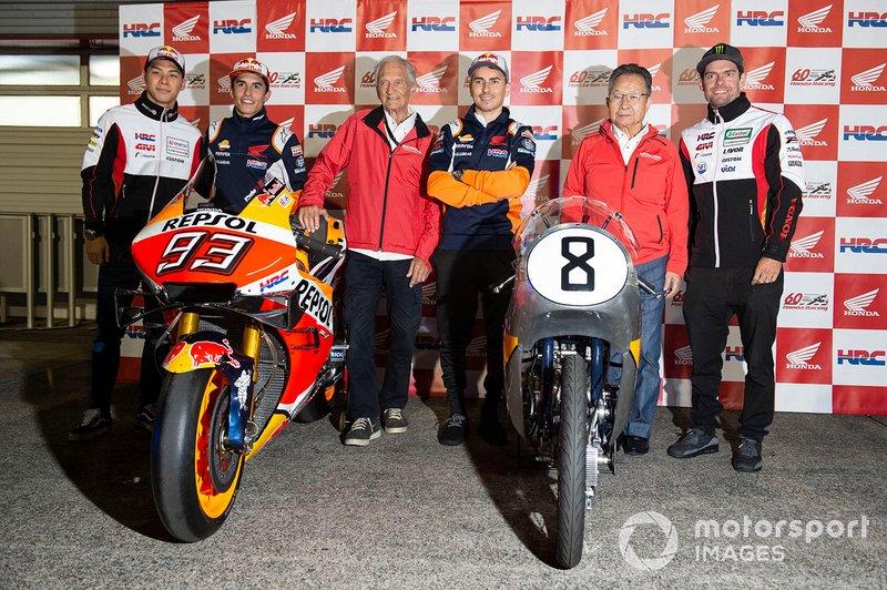 Takaaki Nakagami, Team LCR Honda, Marc Marquez, Repsol Honda Team, Jim Redman, Jorge Lorenzo, Repsol Honda Team, Kunimitsu Takahashi, Cal Crutchlow, Team LCR Honda