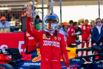 Sebastian Vettel, Ferrari, sur la grille après les qualifications