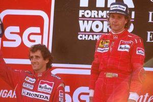 Gerhard Berger, Ferrari, Alain Prost, McLaren, al GP del Portogallo del 1989