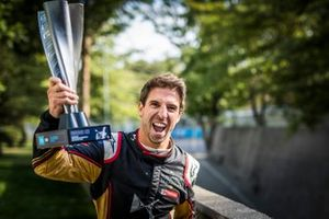 Antonio Felix da Costa, DS Techeetah, 2nd position, poses with his trophy