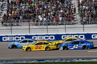 Joey Logano, Team Penske, Ford Mustang Pennzoil, Kevin Harvick, Stewart-Haas Racing, Ford Mustang Busch Light, Ryan Blaney, Team Penske, Ford Mustang Menards/Pennzoil, Kyle Larson, Chip Ganassi Racing, Chevrolet Camaro Credit One Bank