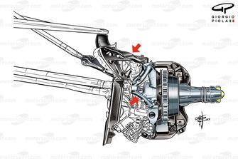 Mercedes AMG F1 W10 bracket