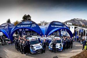Teemu Suninen, Jarmo Lehtinen, M-Sport Ford WRT Ford Fiesta WRC, Esapekka Lappi, Janne Ferm, M-Sport Ford WRT Ford Fiesta WRC with the team