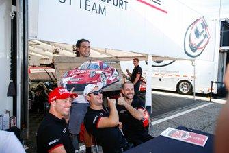 #911 Porsche GT Team Porsche 911 RSR, GTLM: Patrick Pilet, Nick Tandy, Frederic Makowiecki, Autograph Session