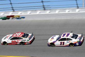 Erik Jones, Joe Gibbs Racing, Toyota Camry Sports Clips, Denny Hamlin, Joe Gibbs Racing, Toyota Camry FedEx Express