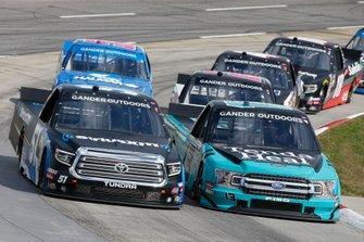 Christian Eckes, Kyle Busch Motorsports, Toyota Tundra SiriusXM Johnny Sauter, ThorSport Racing, Ford F-150 Tenda Heal