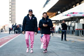Lance Stroll, Racing Point ve Sergio Perez, Racing Point