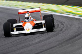 Martin Brundle, Sky TV driving the McLaren MP4/4