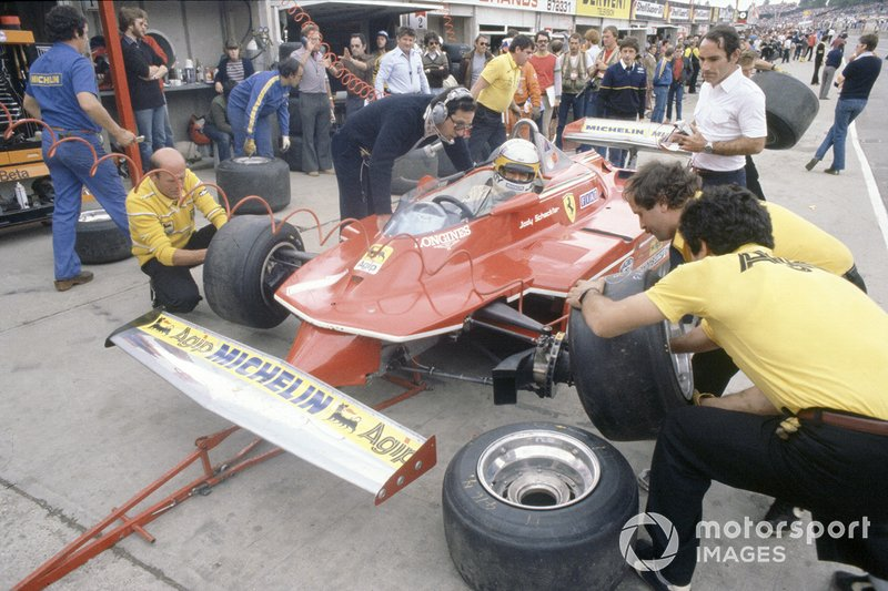 Джоди Шектер, Ferrari, и конструктор Мауро Форгьери