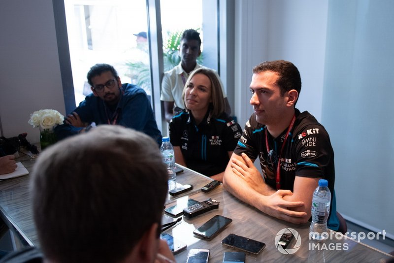 Claire Williams, Deputy Team Principal, Williams Racing at the 2020 driver announcement of Nicholas Latifi, Williams Racing