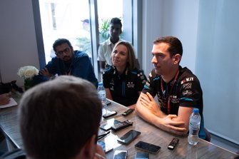 Claire Williams, Deputy Team Principal, Williams Racing, Nicholas Latifi, Williams Racing