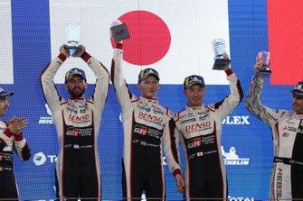 Ganadores #7 Toyota Gazoo Racing Toyota TS050: Mike Conway, Jose Maria Lopez, Kamui Kobayashi