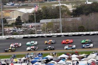 Brandon Brown, Brandonbilt Motorsports, Chevrolet Camaro Larry's Lemonade and Harrison Burton, Joe Gibbs Racing, Toyota Supra Dex Imaging