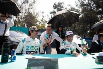 Cacá Bueno, ZEG iCarros Jaguar Brazil, Sérgio Jimenez, ZEG iCarros Jaguar Brazil being interviewed at the autograph session