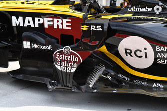 Renault Sport F1 Team R.S. 18 sidepod detail and aero sensor