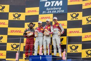 Podio: ganador de a carrera René Rast, Audi Sport Team Rosberg, segundo Mike Rockenfeller, Audi Sport Team Phoenix y tercero Nico Müller, Audi Sport Team Abt Sportsline