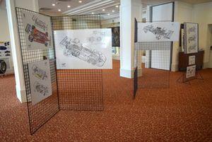 I disegni esposti alla mostra dedicata a Giorgio Piola per i suoi 50 in Formula 1