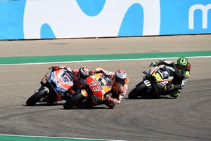 Марк Маркес, Repsol Honda Team, Хорхе Лоренсо, Ducati Team, и Кэл Кратчлоу, Team LCR Honda