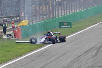 Brendon Hartley, Scuderia Toro Rosso STR13 abandonne après un contact au départ