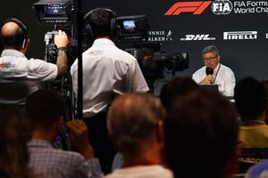 Ross Brawn, Formula One Managing Director of Motorsports in a Press Conference