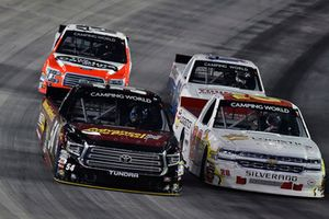 Riley Herbst, DGR-Crosley, Toyota Tundra Advance Auto Parts / Terrible Herbst / NOS / ORCA and Tanner Thorson, Young's Motorsports, Chevrolet Silverado Ohio Logistics