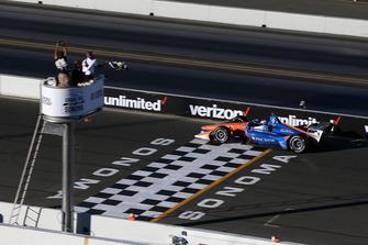 Scott Dixon, Chip Ganassi Racing Honda finisht als tweede en pakt daarmee de titel