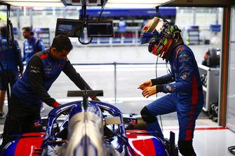 Brendon Hartley, Toro Rosso, monte dans sa monoplace