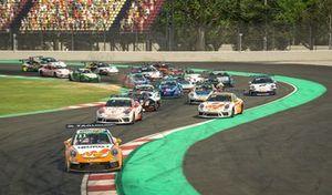 Salida de la Porsche TAG Esports Supercup 2020 en el Circuit de Barcelona-Catalunya
