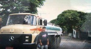 Djalma Pivetta quando caminhoneiro