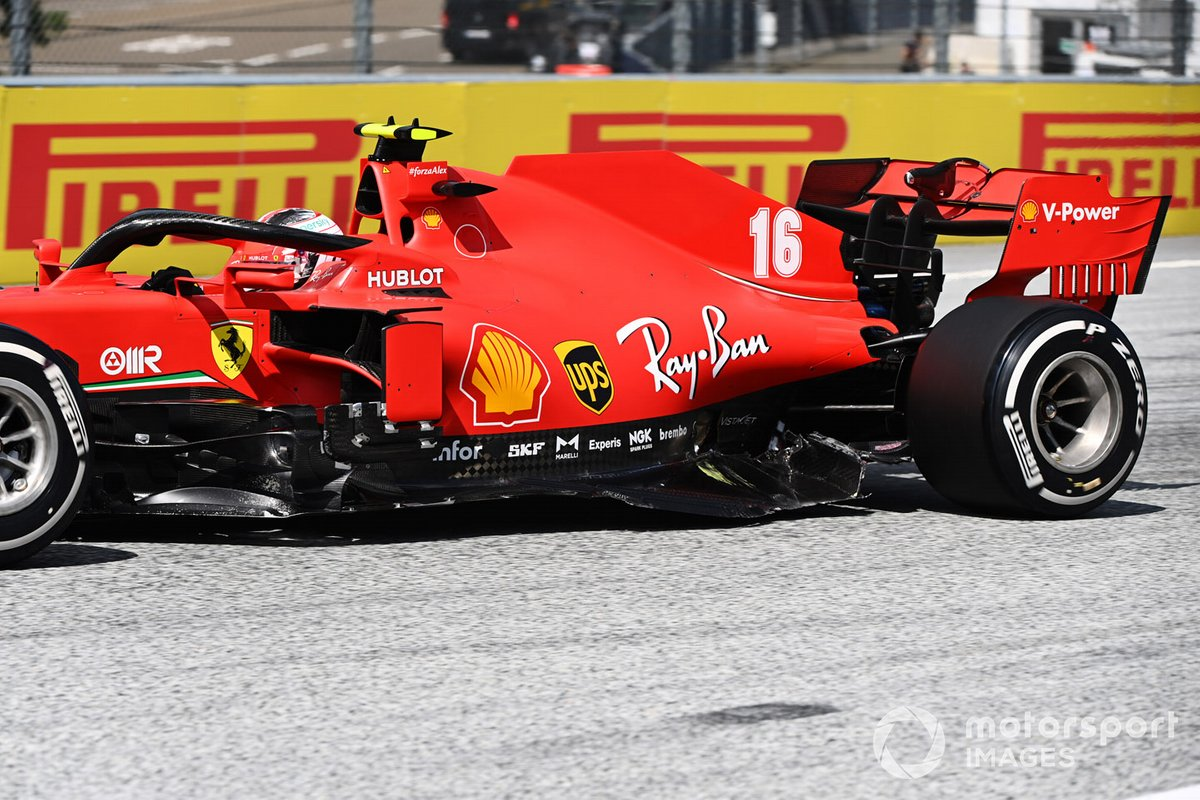 Charles Leclerc, Ferrari SF1000, con daños