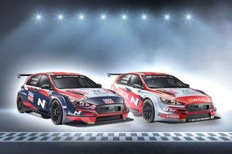 Luca Engstler, Nicky Catsburg, Engstler Hyundai N Liqui Moly Racing Team, Hyundai i30 N TCR, Gabriele Tarquini, Norbert Michelisz, BRC Hyundai N LUKOIL Squadra Corse, Hyundai i30 N TCR