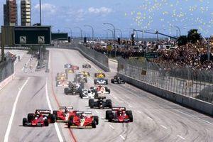 John Watson, Brabham BT46, Gilles Villeneuve, Ferrari 312T3, Carlos Reutemann, Ferrari 312T3, Niki Lauda, Brabham BT46