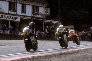 Randy Mamola, Honda, Ron Haslam, Honda, Eddie Lawson, Yamaha