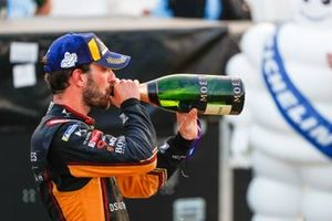 Jean-Eric Vergne, DS Techeetah celebrates on the podium, 3rd position
