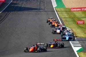 Richard Verschoor, MP Motorsport, Dennis Hauger, Hitech Grand Prix and Calan Williams, Jenzer Motorsport